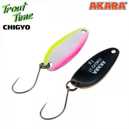 Блесна колебалка Akara Trout Time Chigyo 27 мм, 2 гр, цвет 55