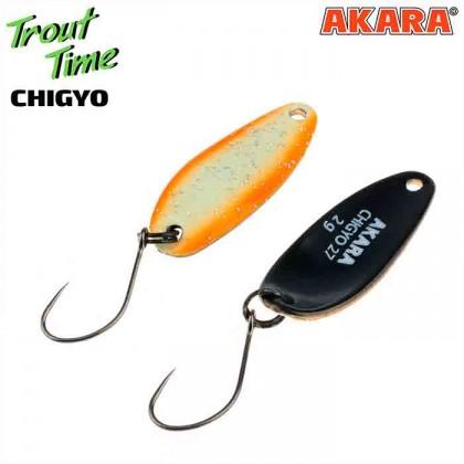 Блесна колебалка Akara Trout Time Chigyo 27 мм, 2 гр, цвет 51