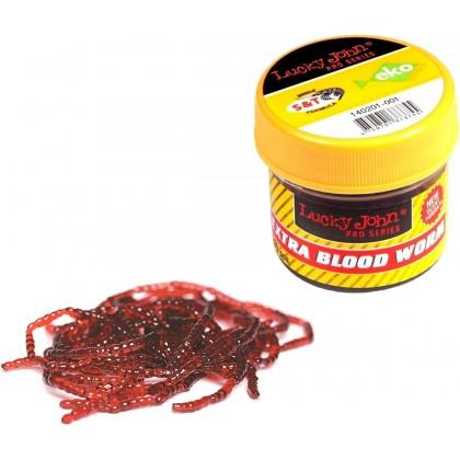 Мотыль искусственный Lucky John Extra Blood Worm L, 200шт