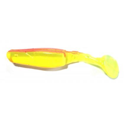 Виброхвост Manns Predator 8см, (прозрачно-желтый, красная спина)