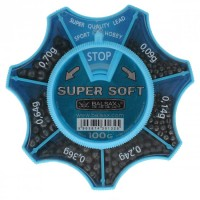 Набор грузил BALSAX SUPER SOFT, 100грамм, (0.09-0.70г)
