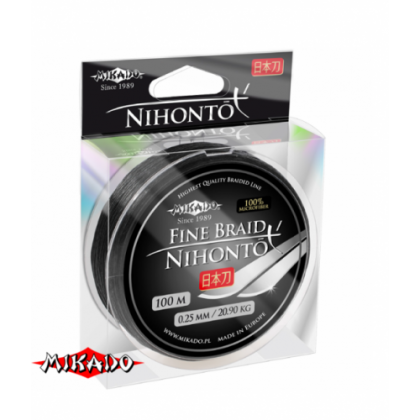 Плетенка MIKADO NIHONTO FINE BRAID Black, 100м