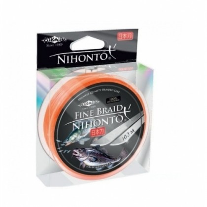 Плетенка MIKADO NIHONTO FINE BRAID ORANGE, 100м
