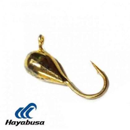 """Мормышка вольфрамовая """"Капля"""" с ушком 1.0г, 4мм, золото"""