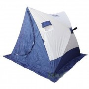 Палатка зимняя Следопыт 2-Скатная бело-синяя (1.85x1.8x1.51м)